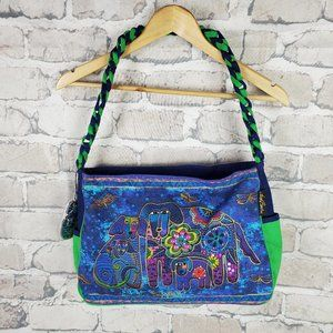 Laurel Burch Canine Family Puppy Dog Tote Retired
